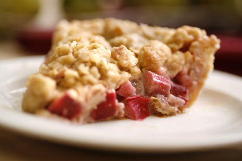 Bavarian Inn Rhubarb Pie