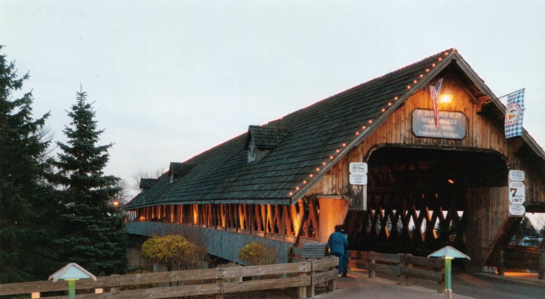 The Challenge Behind Building the Covered Bridge at Bavarian Inn Lodge